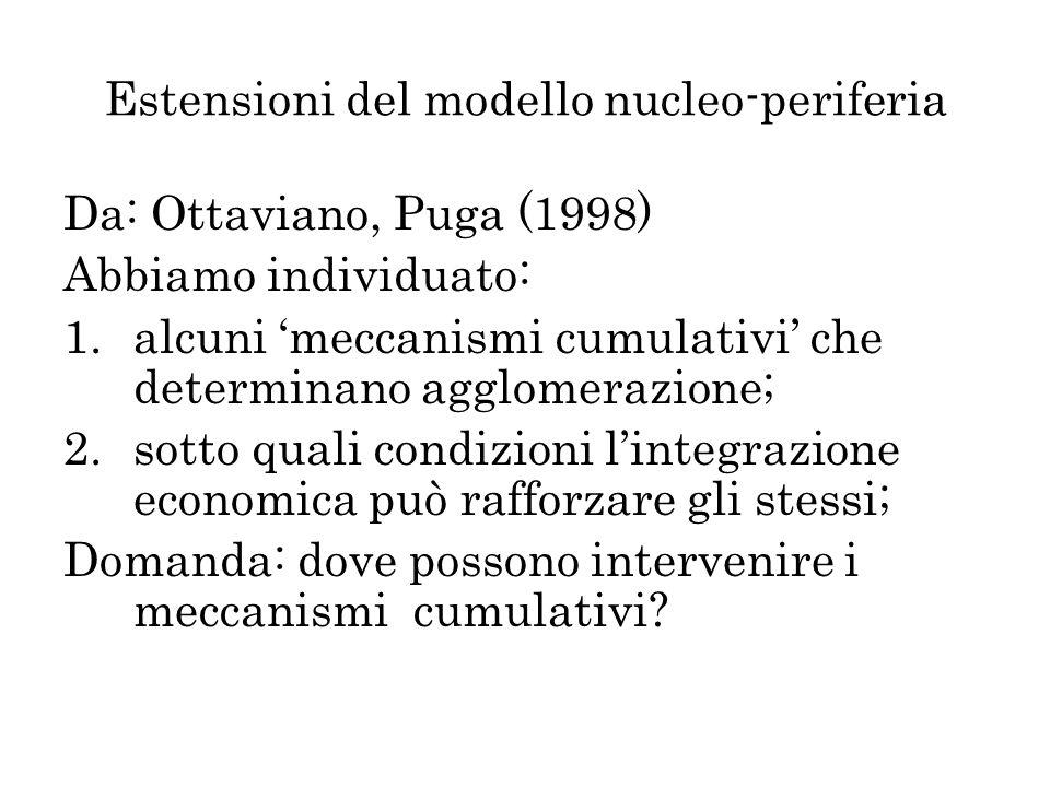 Estensioni del modello nucleo-periferia
