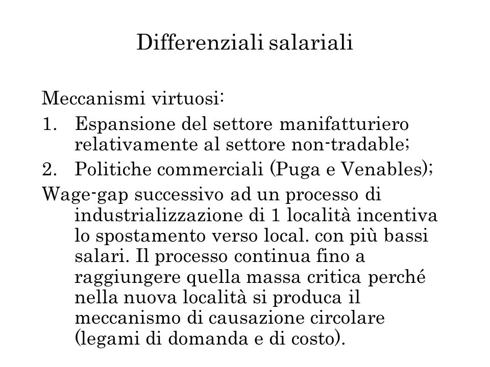 Differenziali salariali