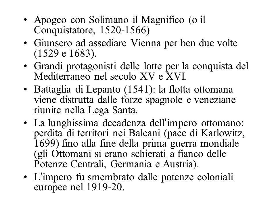 Apogeo con Solimano il Magnifico (o il Conquistatore, 1520-1566)