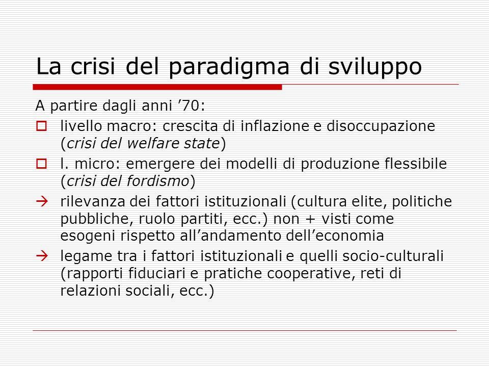 La crisi del paradigma di sviluppo