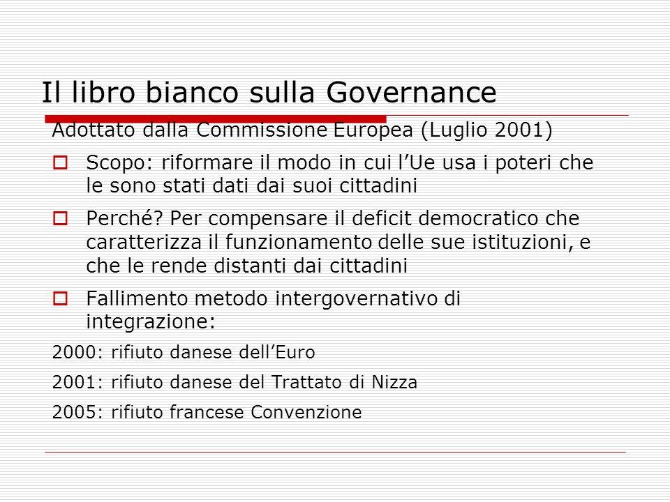 Il libro bianco sulla Governance