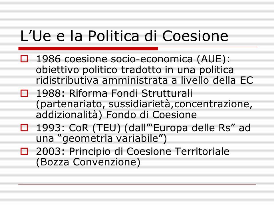 L'Ue e la Politica di Coesione