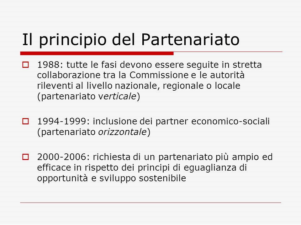 Il principio del Partenariato