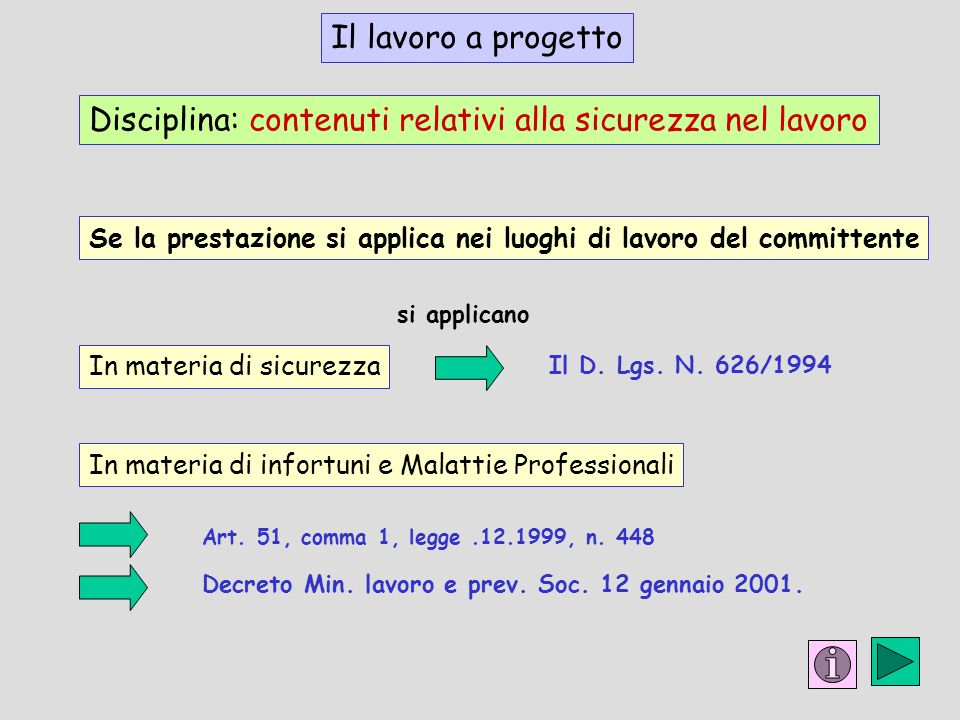 Decreto Min. lavoro e prev. Soc. 12 gennaio 2001.