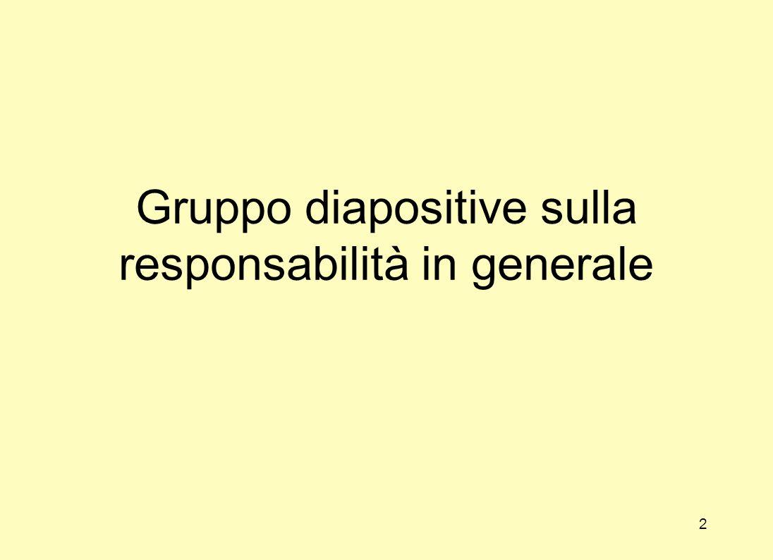 Gruppo diapositive sulla responsabilità in generale