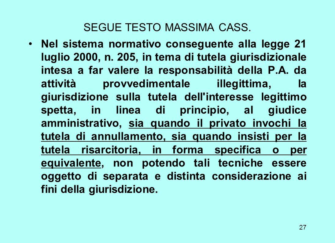 SEGUE TESTO MASSIMA CASS.