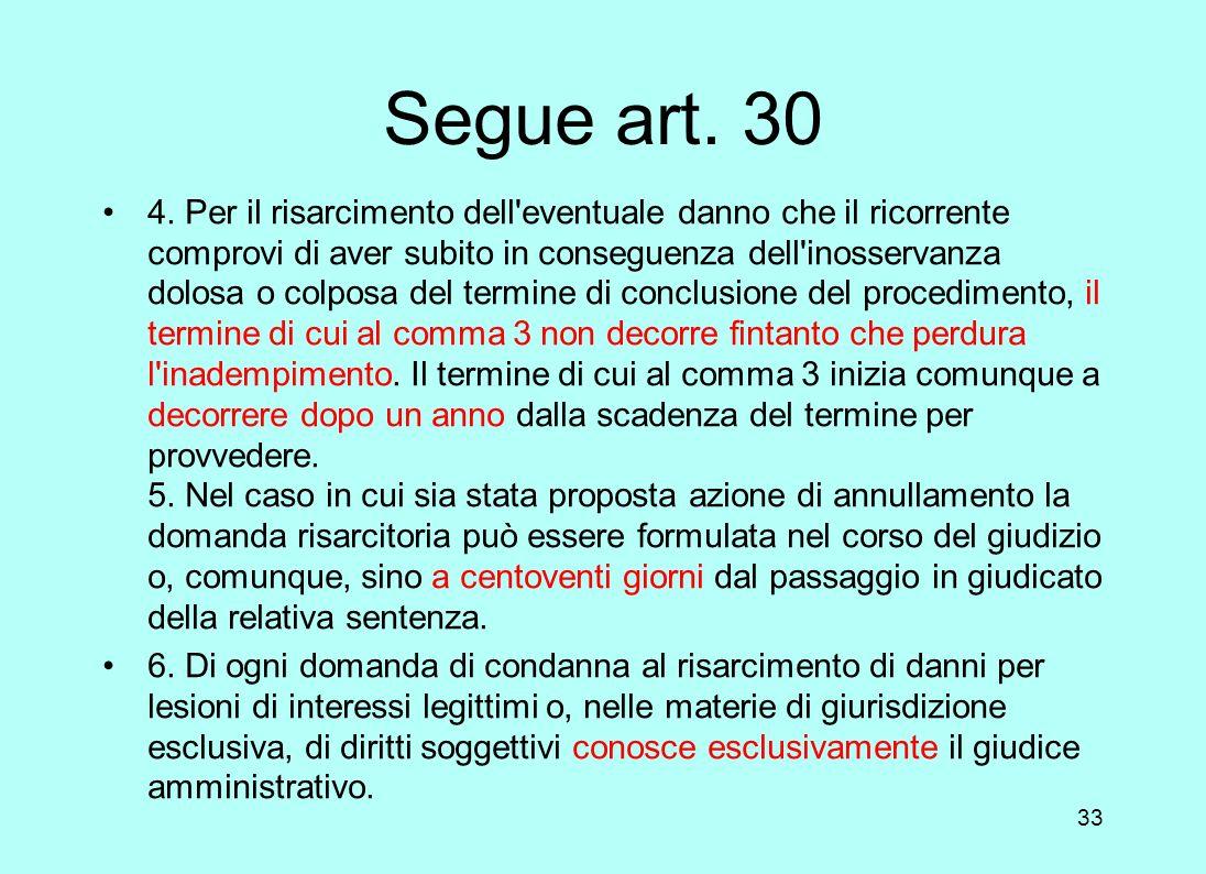 Segue art. 30