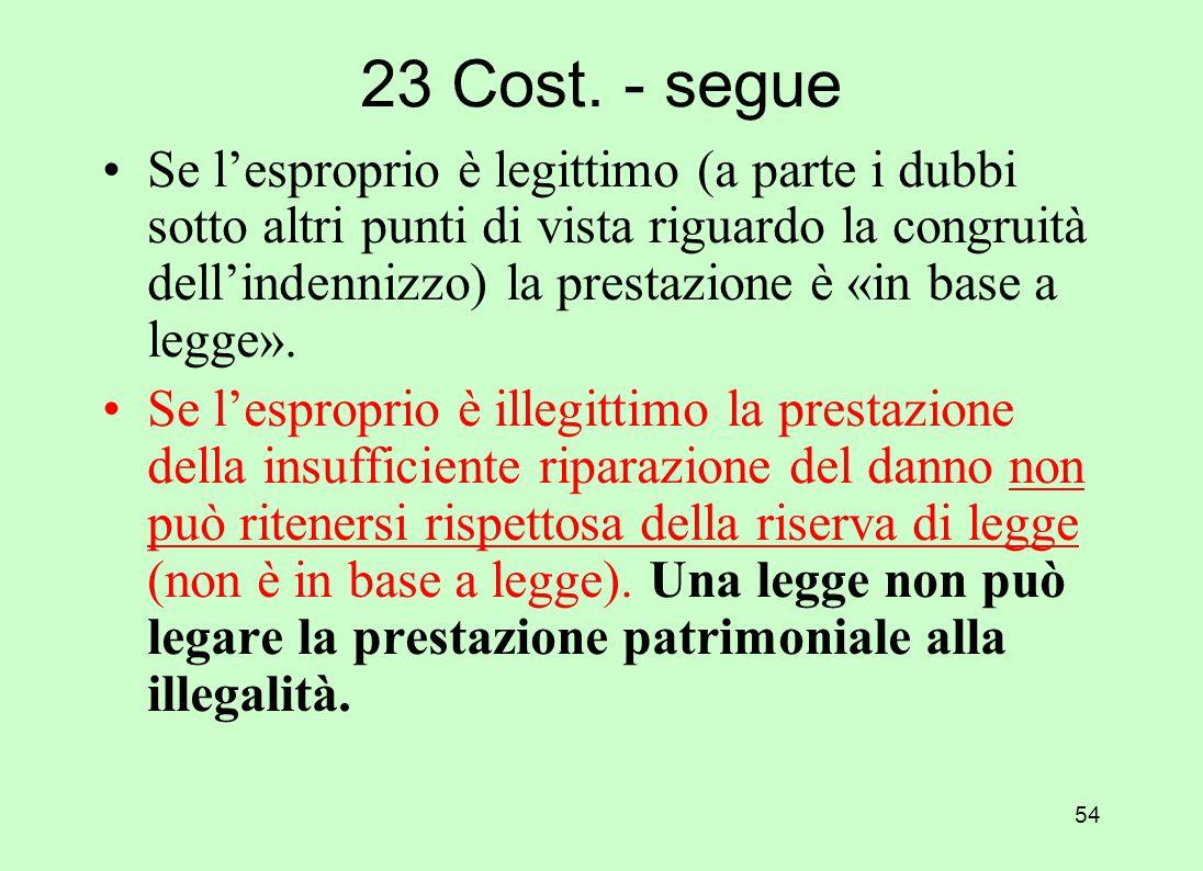 23 Cost. - segue