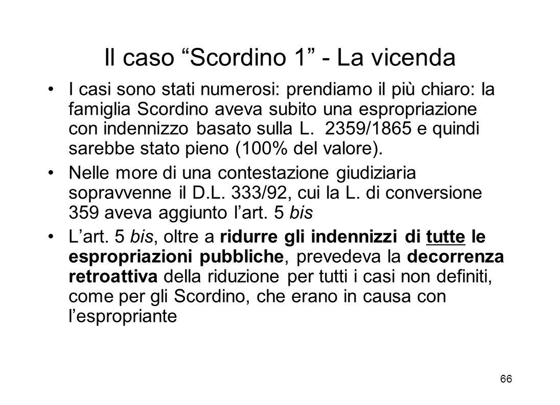 Il caso Scordino 1 - La vicenda