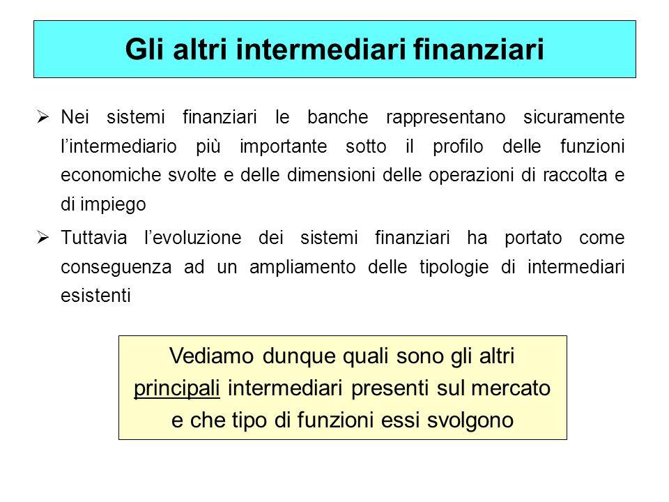 Gli altri intermediari finanziari