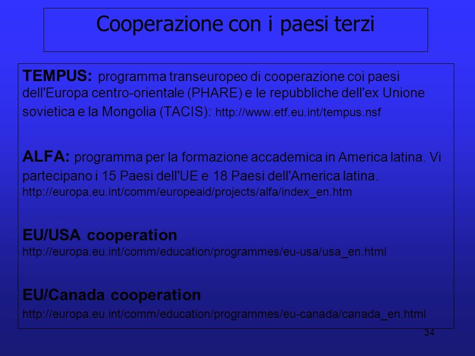 Cooperazione con i paesi terzi