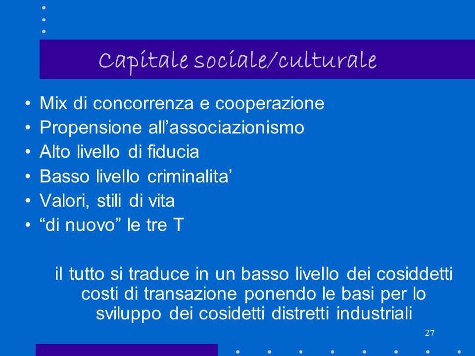 Capitale sociale/culturale
