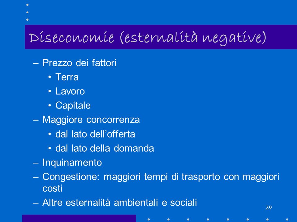 Diseconomie (esternalità negative)