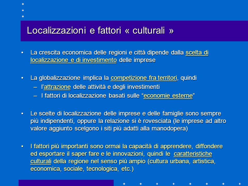 Localizzazioni e fattori « culturali »