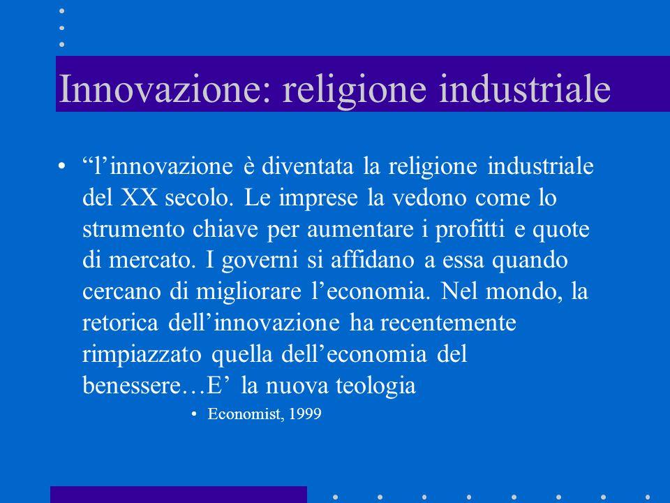 Innovazione: religione industriale
