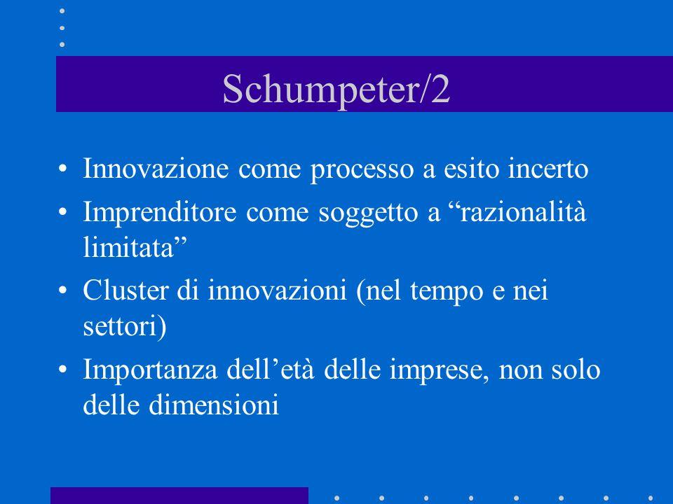 Schumpeter/2 Innovazione come processo a esito incerto