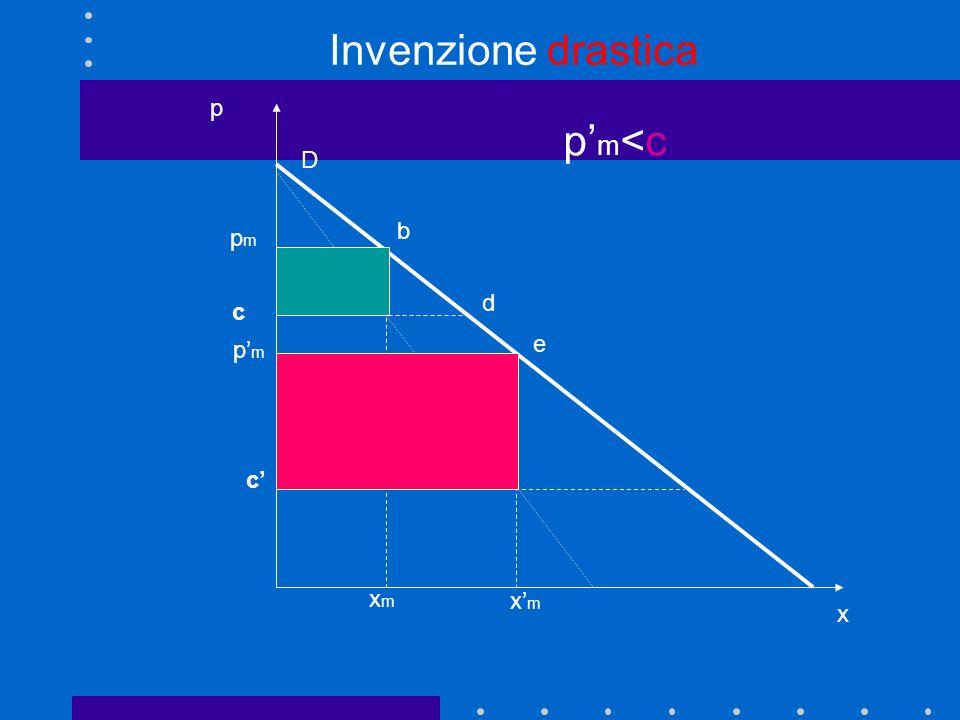 Invenzione drastica p x p'm<c D b pm d c p'm e c' xm x'm