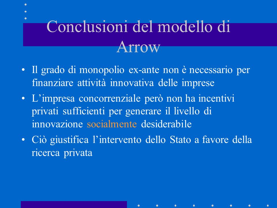 Conclusioni del modello di Arrow