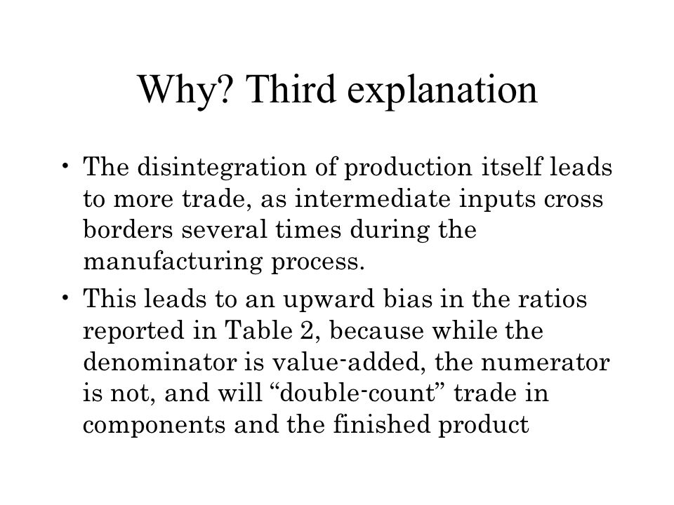 Why Third explanation