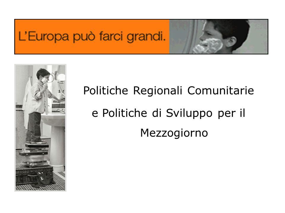 Politiche Regionali Comunitarie