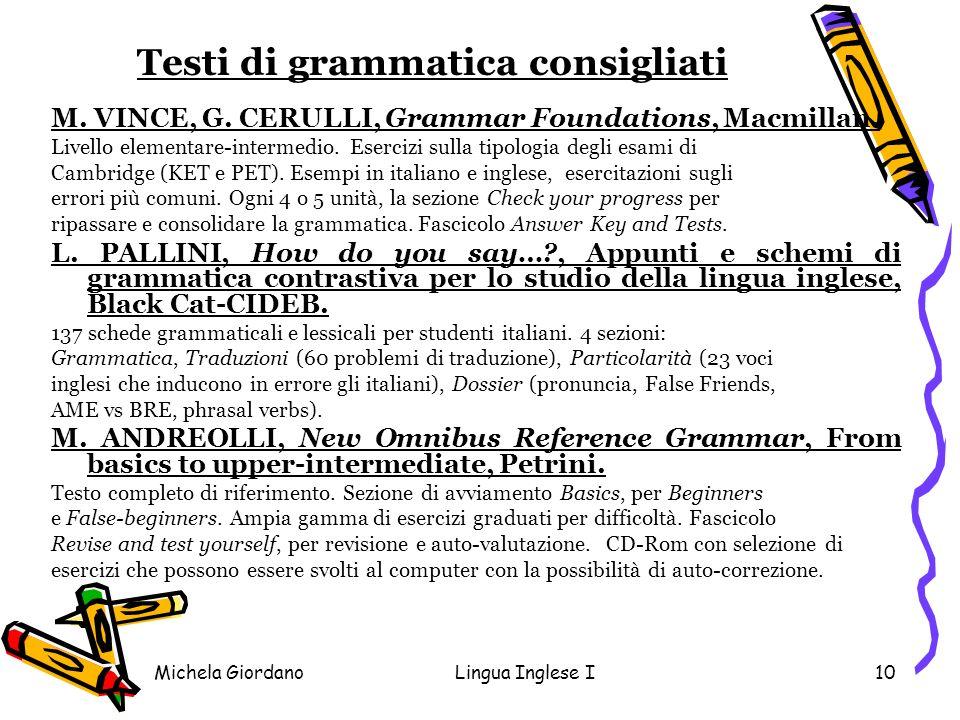 Testi di grammatica consigliati