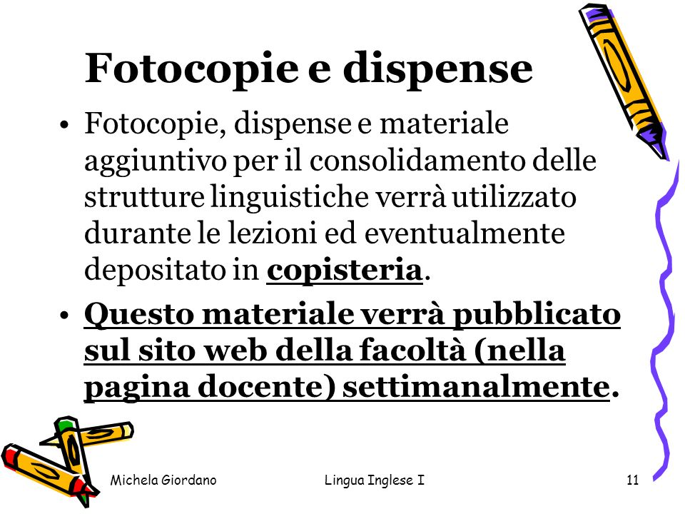 Fotocopie e dispense
