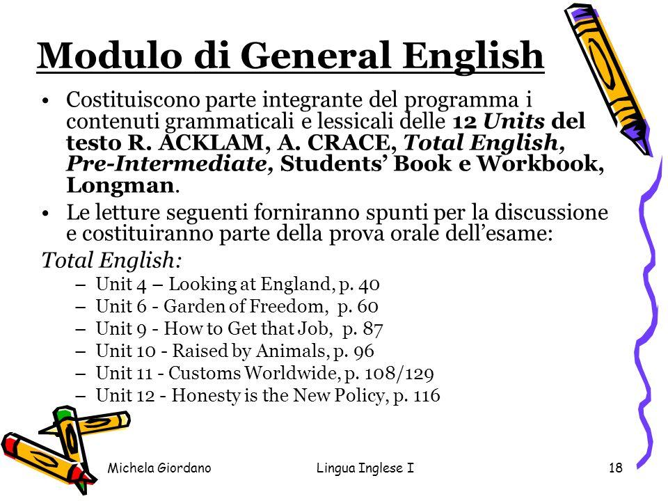 Modulo di General English