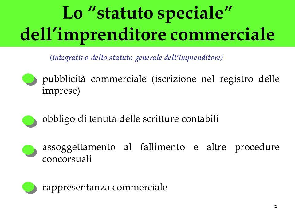 Lo statuto speciale dell'imprenditore commerciale