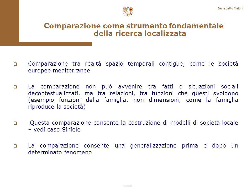 Comparazione come strumento fondamentale della ricerca localizzata
