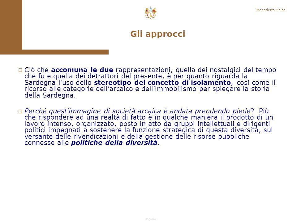 Benedetto Meloni Gli approcci.