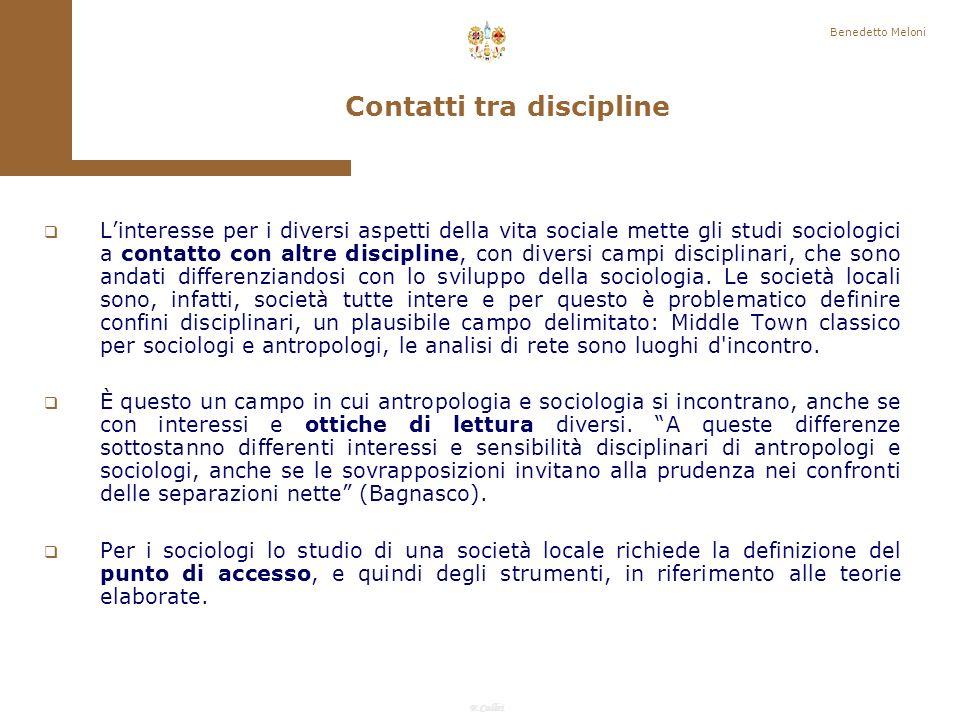 Contatti tra discipline