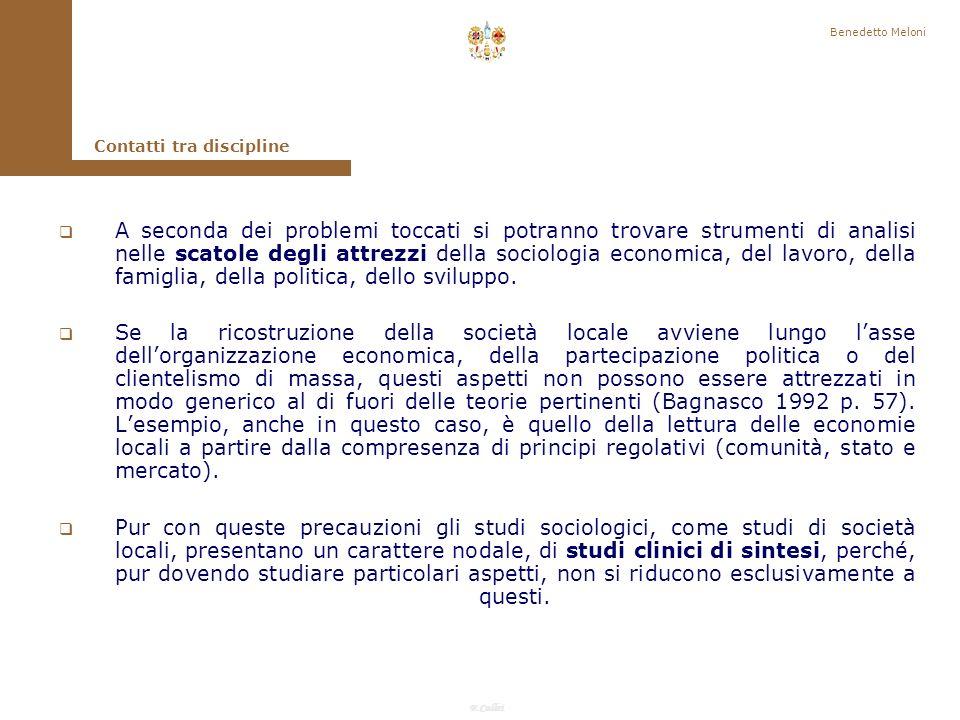 Benedetto Meloni Contatti tra discipline.