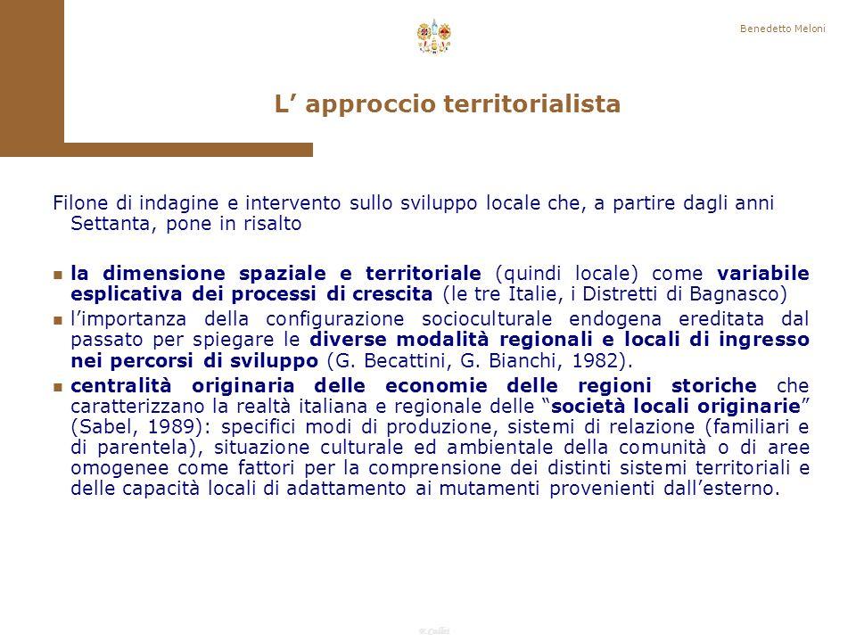 L' approccio territorialista