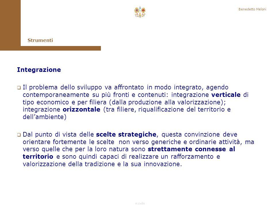 Benedetto Meloni Strumenti. Integrazione.