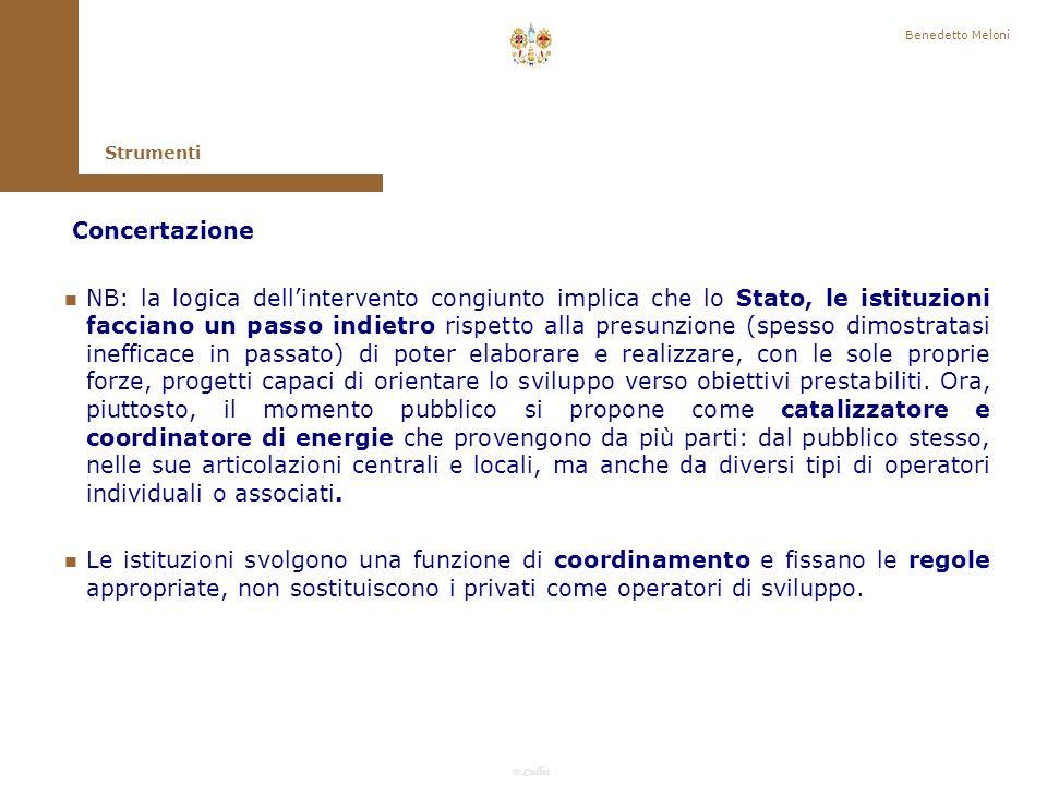 Benedetto Meloni Strumenti. Concertazione.