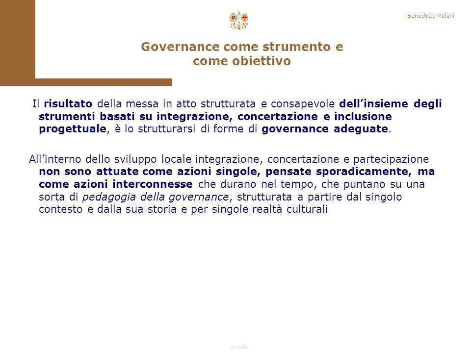 Governance come strumento e come obiettivo