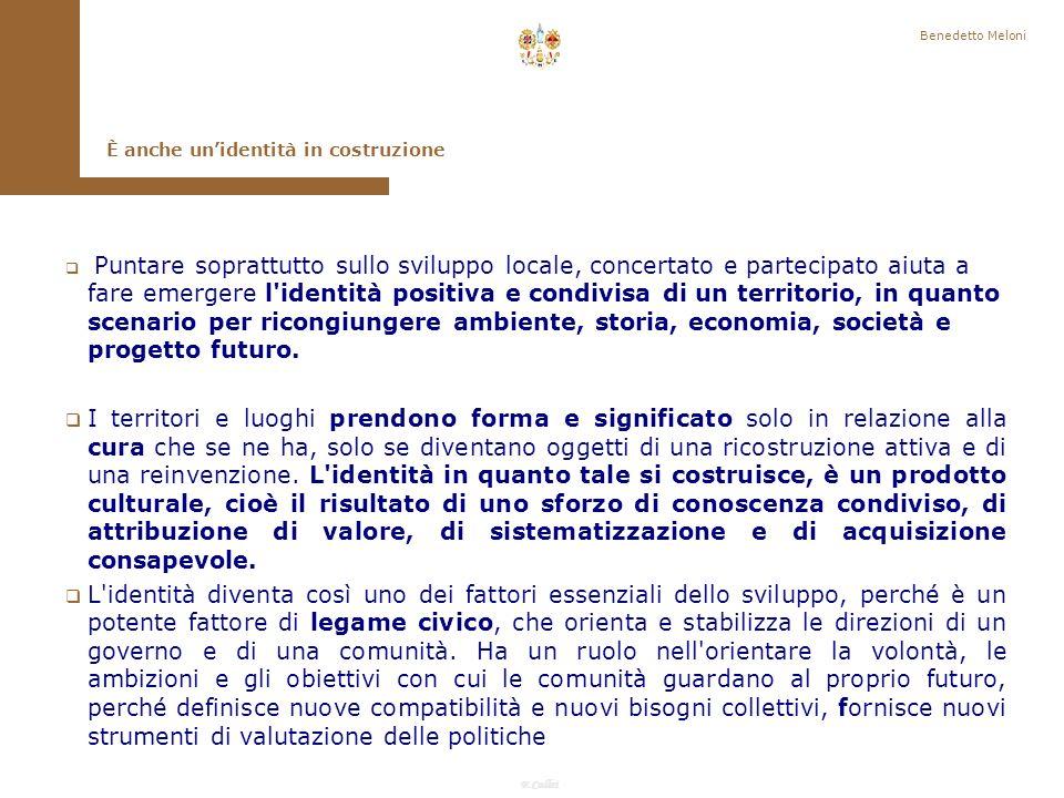 Benedetto Meloni È anche un'identità in costruzione.