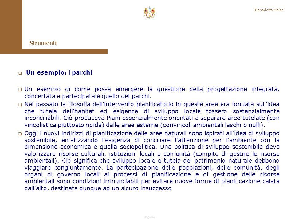 Benedetto Meloni Strumenti. Un esempio: i parchi.