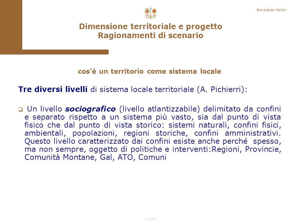 Dimensione territoriale e progetto Ragionamenti di scenario