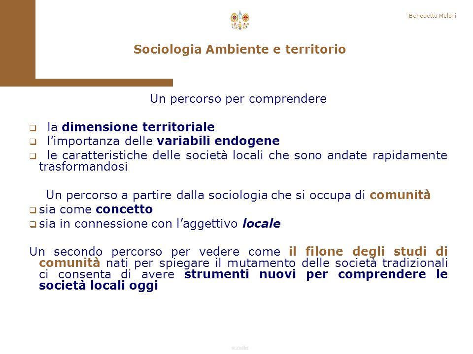 Sociologia Ambiente e territorio
