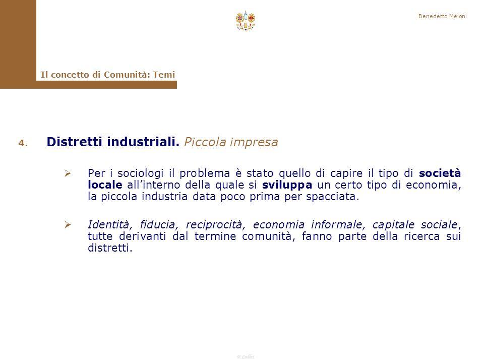 Distretti industriali. Piccola impresa