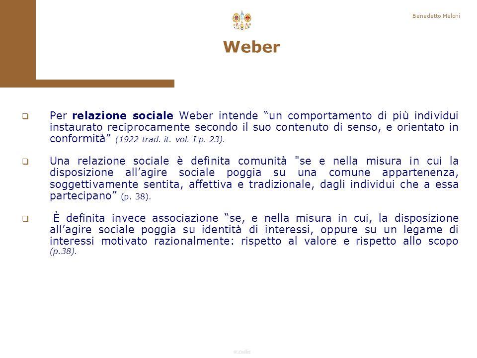 Benedetto Meloni Weber.