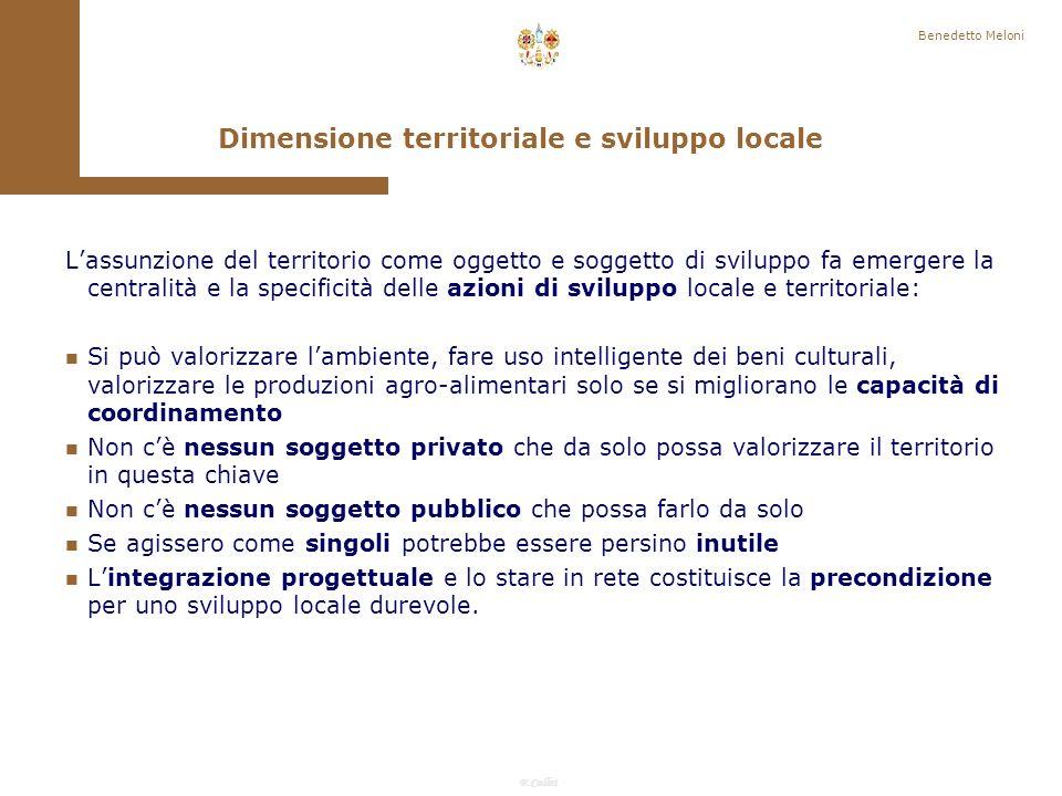 Dimensione territoriale e sviluppo locale
