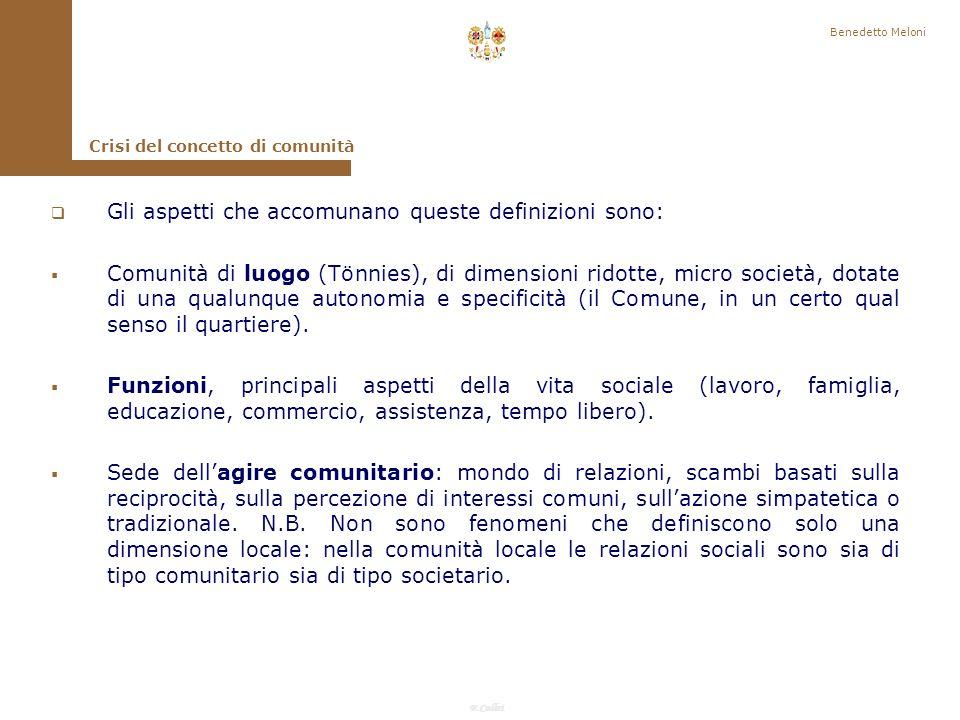 Gli aspetti che accomunano queste definizioni sono: