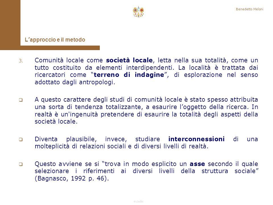 Benedetto Meloni L'approccio e il metodo.