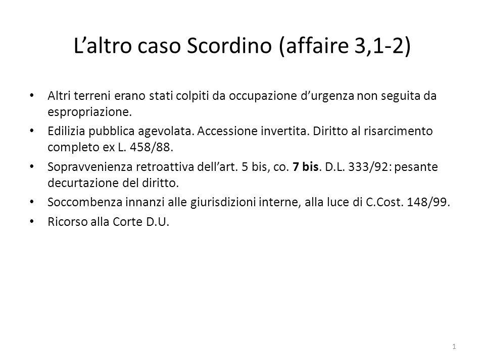 L'altro caso Scordino (affaire 3,1-2)