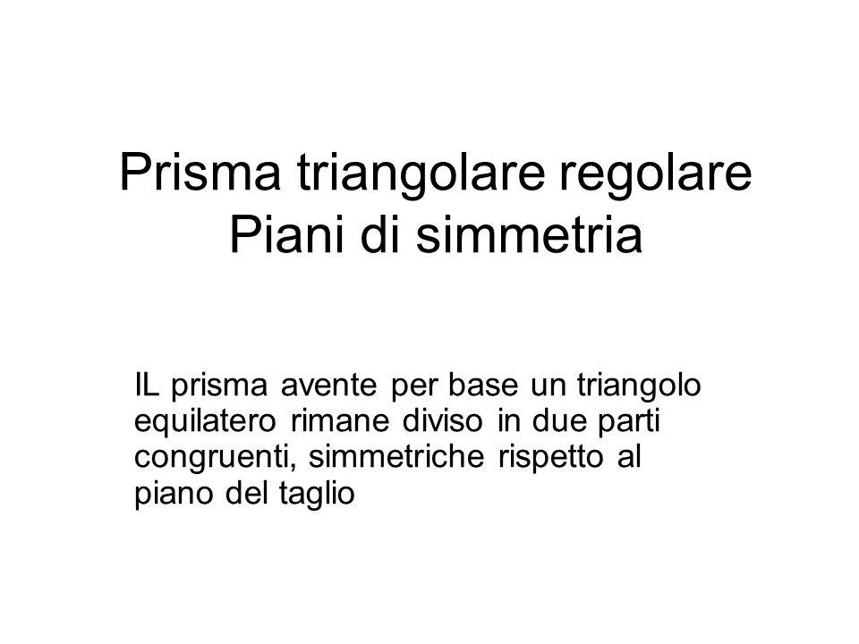 Prisma triangolare regolare Piani di simmetria
