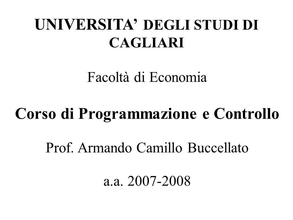 UNIVERSITA' DEGLI STUDI DI CAGLIARI