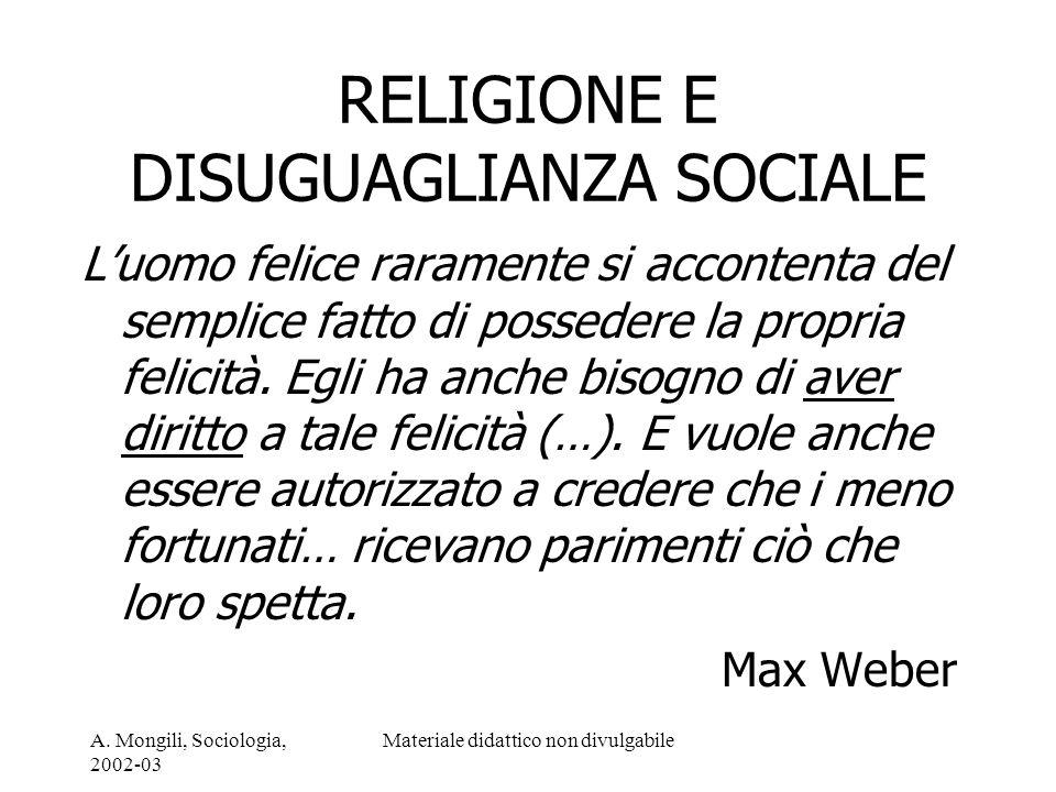 RELIGIONE E DISUGUAGLIANZA SOCIALE