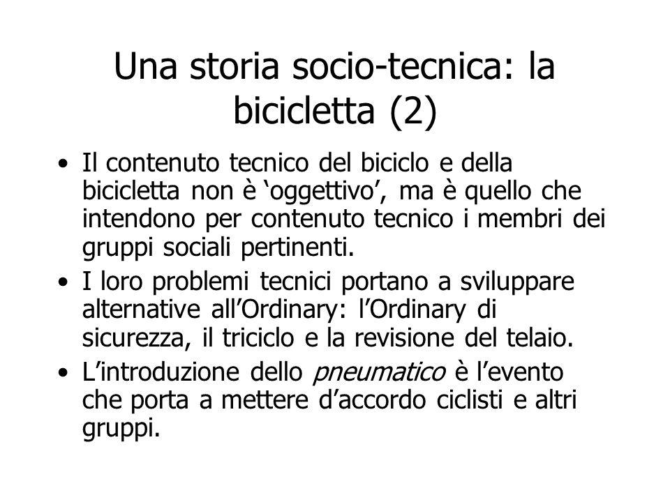 Una storia socio-tecnica: la bicicletta (2)
